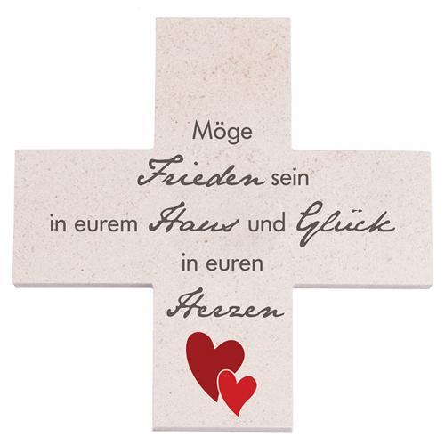 Kalksteinkreuz - Möge Frieden