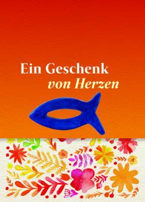Fisch blau auf Minicard