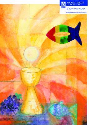 Fisch bunt mit Grußkarte Mit Gott verbunden