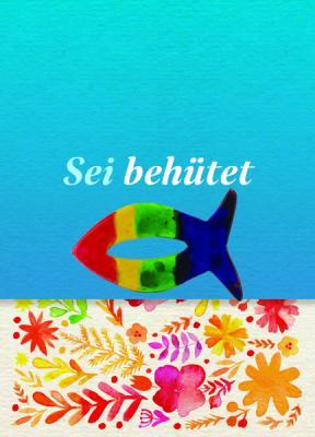 Fisch bunt auf Minicard Bätter Motiv