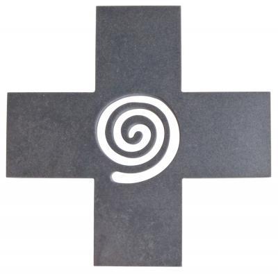 Schieferkreuz - mit Lebens Spirale