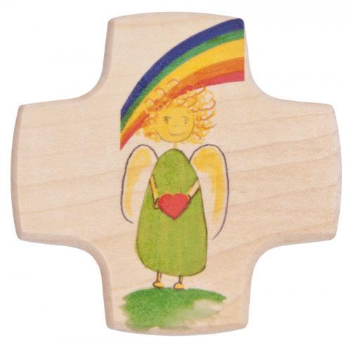 Kinderkreuz - Engel mit Herz