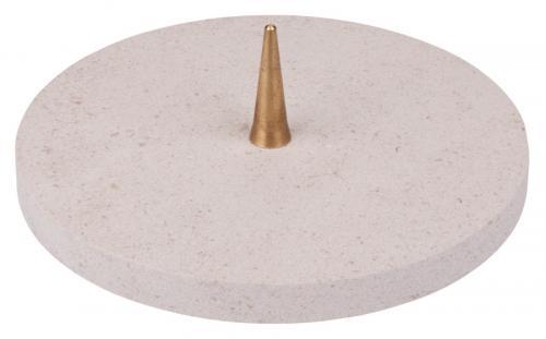 Kalksteinleuchter mit Dorn - modern