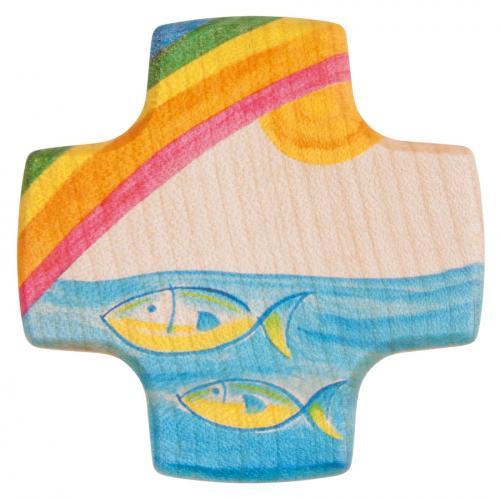 Kinderkreuz - Regenbogen , Wisch & Wasser