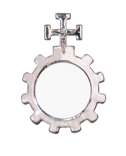 Gebetsring - Metall mit Kreuz