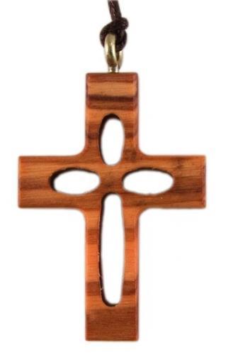 Olivenholzkreuz durchbrochen
