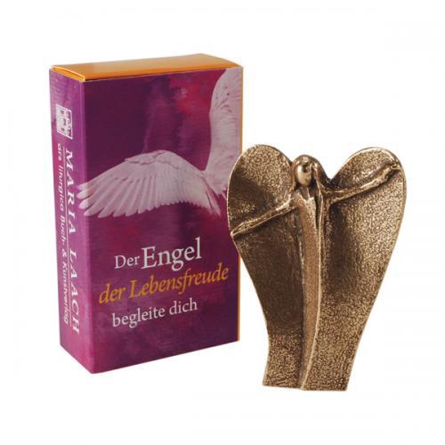 Bronze Handschmeichler - Der Engel der Lebensfreude begleite dich