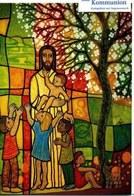 Kommunionkarte Jesus Freund der Kinder