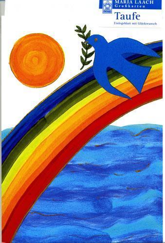 Taufkarte - Tauge, Regenbogen , Sonne