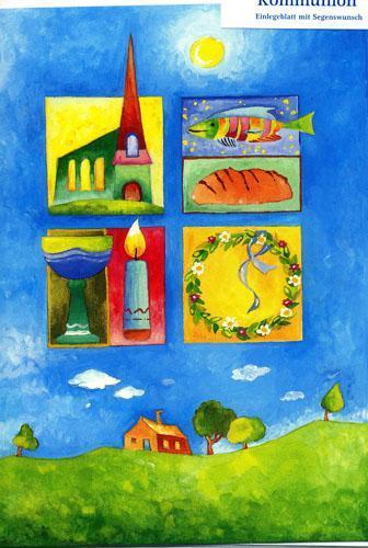 Kommunionkarte - Kommunion und Welt