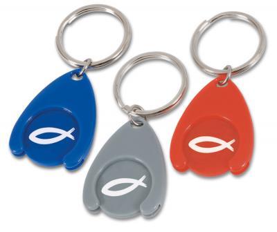 Schlüsselanhänger - mit Einkaufschip Fisch