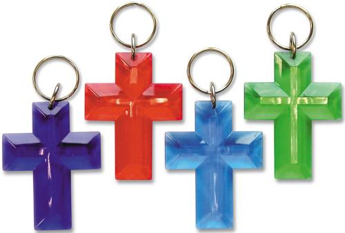 Schlüsselanhänger - Kreuz mehrfarbig