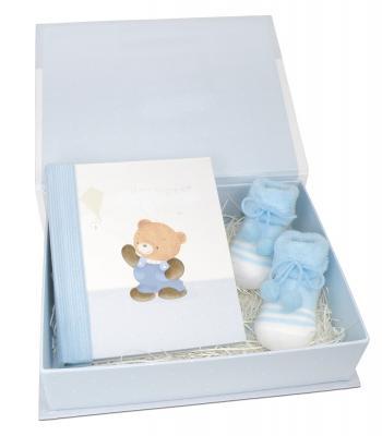 """Geschenkset """"Baby"""" blau"""