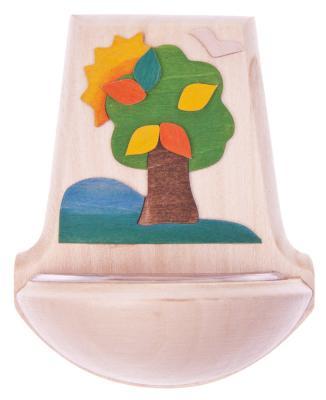 """Kinderweihkessel """"Hoffnungsbaum"""" Holz Auflage, 11 x 9,5 cm"""
