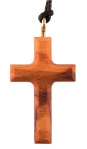 Lederband - Holzkreuz