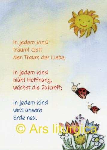 Taufkarte - In jedem Kind träumt Gott den Traum der Liebe ..