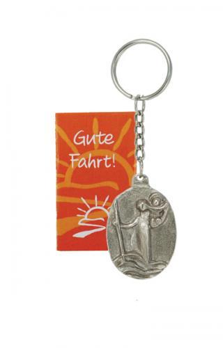Bronze Schlüsselanhänger - Christophorus