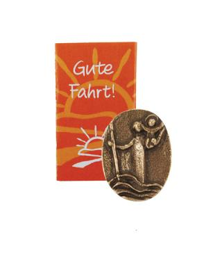 Bronze Autoplakette - Christophorus gute Fahrt