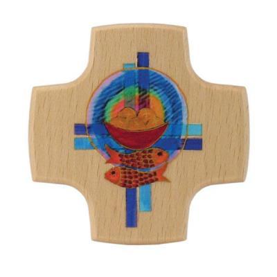 Kommunionkreuz - Brot, Fische, Kreuze