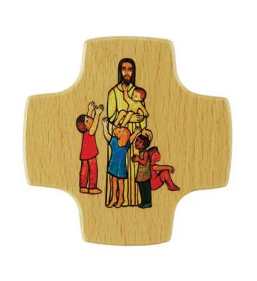 Kommunionkreuz - Jesus und Kinder