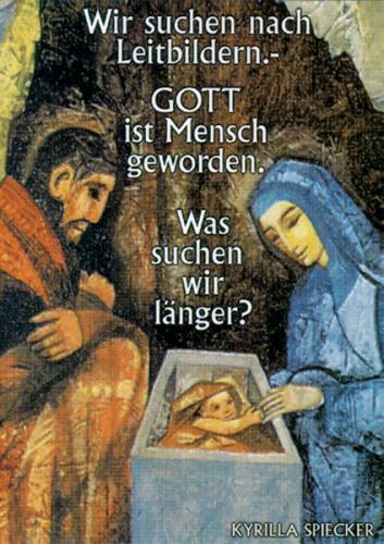 Weihnachtskarte - Wir suchen nach Leitbildern