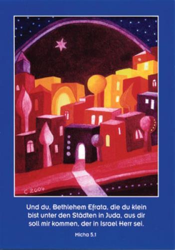 Weihnachtskarte - Und du Bethlehem