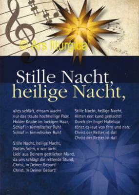 Weihnachtskarte - Stille Nacht, heilige Nacht