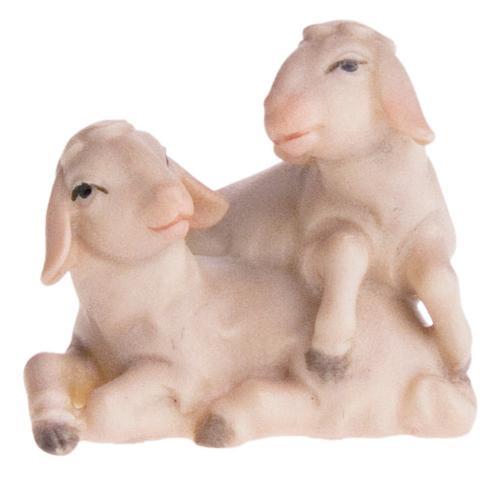 Schaf spielend mit Lamm