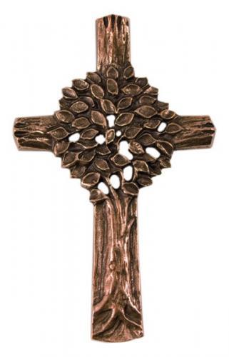 Bronzekreuz - mit Lebensbaum