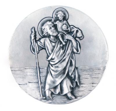 Christophorus-Plakette - Kind mit auf Schulter