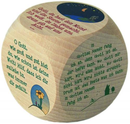 Gebetswürfel aus Holz Mond