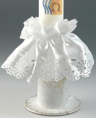 Kerzen - Tropfenfänger weiße Tülle