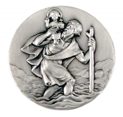 Christophorus Medaille - dünne Form