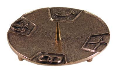 Bronze Kerzenleuchter - mit Symbolen