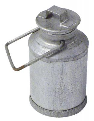 Krippenzubehör Milchkanne aus Metall