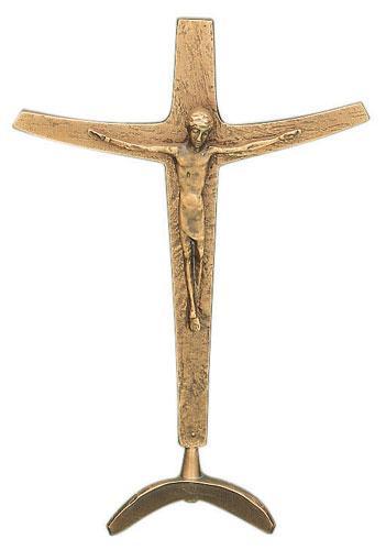 Stehkreuz mit Korpus - Bronze