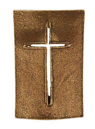 Stehkreuz Bronze - Schildkreuz