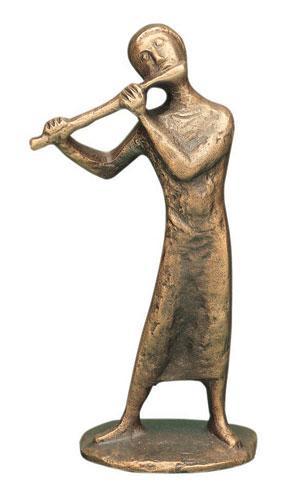 Bronzefigur - Flötenspiel 11 cm