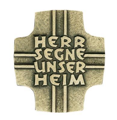 Bronzerelief - Herr segne unser Heim