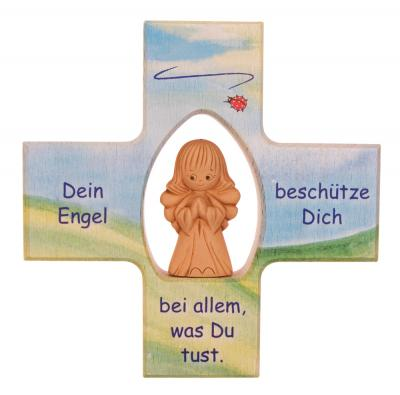 Kinderkreuz mit Tonengel - Dein Engel