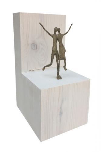 EDITION Augenblicke - Paar auf Holzblock