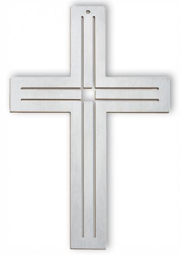 Edelstahlkreuz - doppel Kreuz