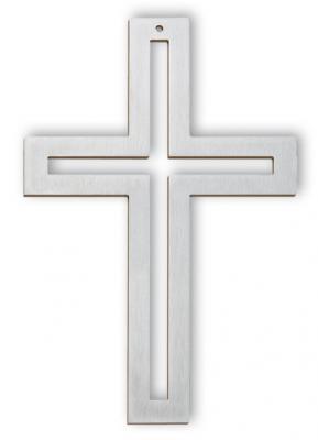 Edelstahlkreuz - Kreuz in Kreuz