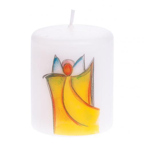 Kerze - Engel gelb