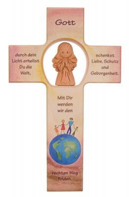 Kinderkreuz mit Tonengel - Du erhellst die Welt