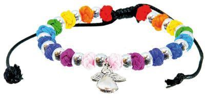 Armband mit Engel aus Metall und Perlen