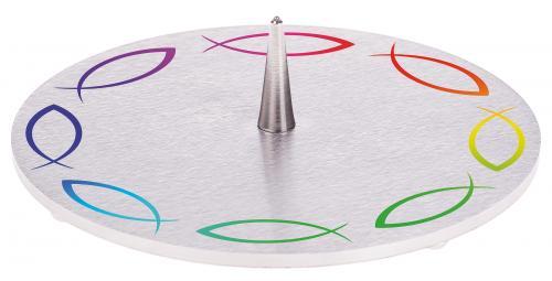 Edelstahlleuchter - Fischkreis