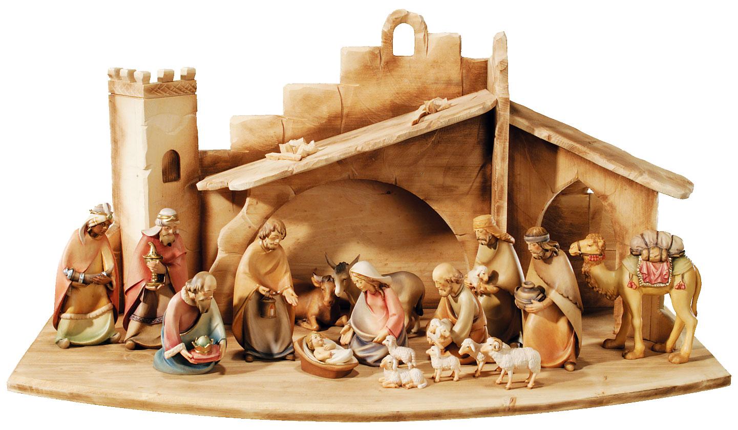 Krippenstall Weihnachtskrippe. Krippe für 7-9 cm Krippenfiguren